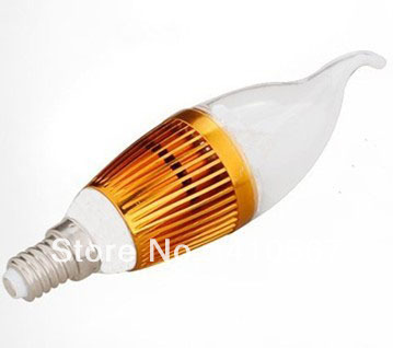 factory direct sale Free shipping 5W E14 LED dimmable Candle Light lamp LED spot light