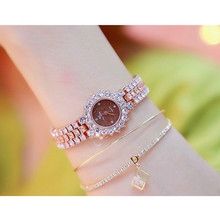 Womens High-End Chain Watch Fashion New Hot Ladies Custom Full Rhinestone