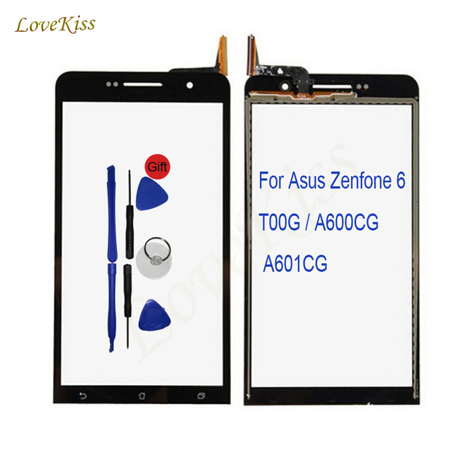 Quality Touch Screen Panel Digitizer For Asus Zenfone 6 T00G A600CG A601CG Touchscreen Sensor Front Glass Replacement