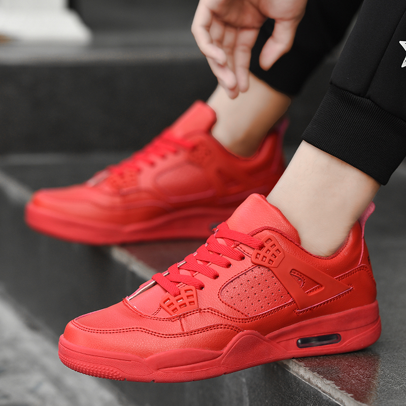 Baskets Homme 2017 Men Basketball Shoes Comfortable Men Shoes Outdoor Flat Air Cushion Sport Shoes Mens Trainers Zapatillas Red image
