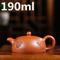 Pottery China Tea Sets 190ml Oriental Teapots Porcelain Tea Pot Chinese Handmade Pots Teapot Yixing Zisha Clay Tea Set Kettle