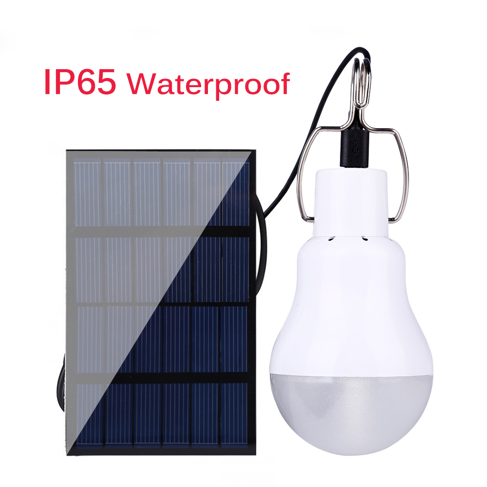AGM LED Solar Lamp Powered Panel Energy Bulb Light Luminaria Portable Flashlight Outdoor Garden Sunlight Camp Tent Fishing Light