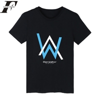 2017 Fashion Alan Walker Short Sleeve Off White Tee Shirt Femme Summer Funny T Shirts Men