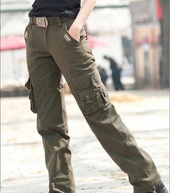 b03c343a941 Military Outdoors City Tactical Pants Women s Sport Cargo Pants Army  Training Combat Outdoor Trousers Size 27-31