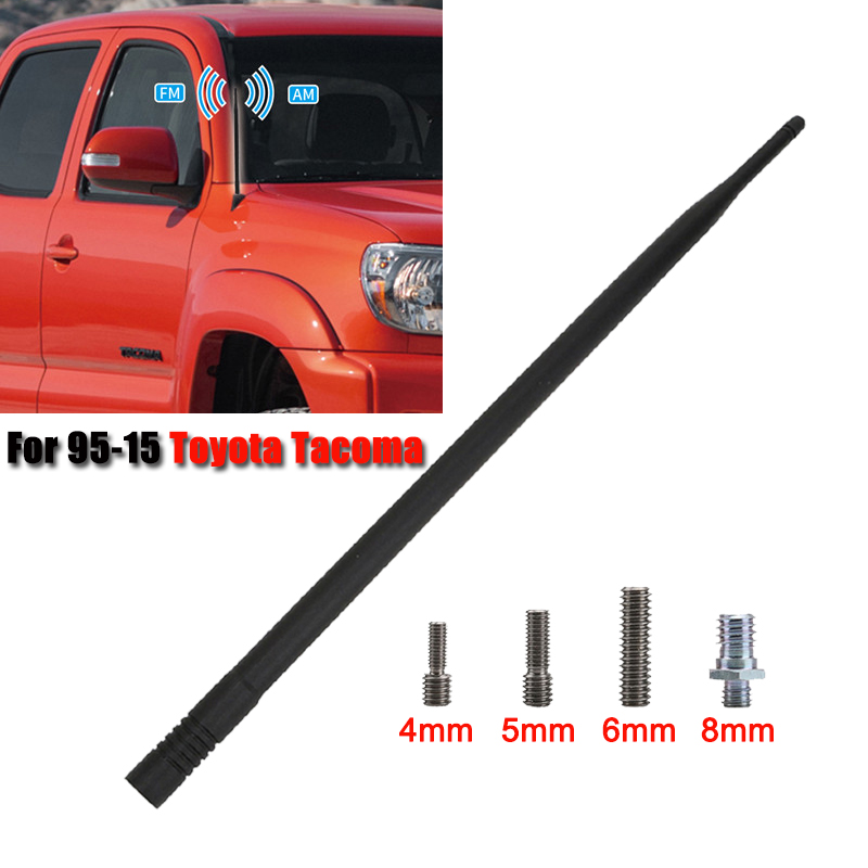 เสาอากาศรถยนต์เสาอากาศวิทยุ FM AM เสาอากาศสำหรับ Toyota Tacoma 1995-2015 สัญญาณเครื่องขยายเสียง Booster ANTENNA 13 นิ้ว ...