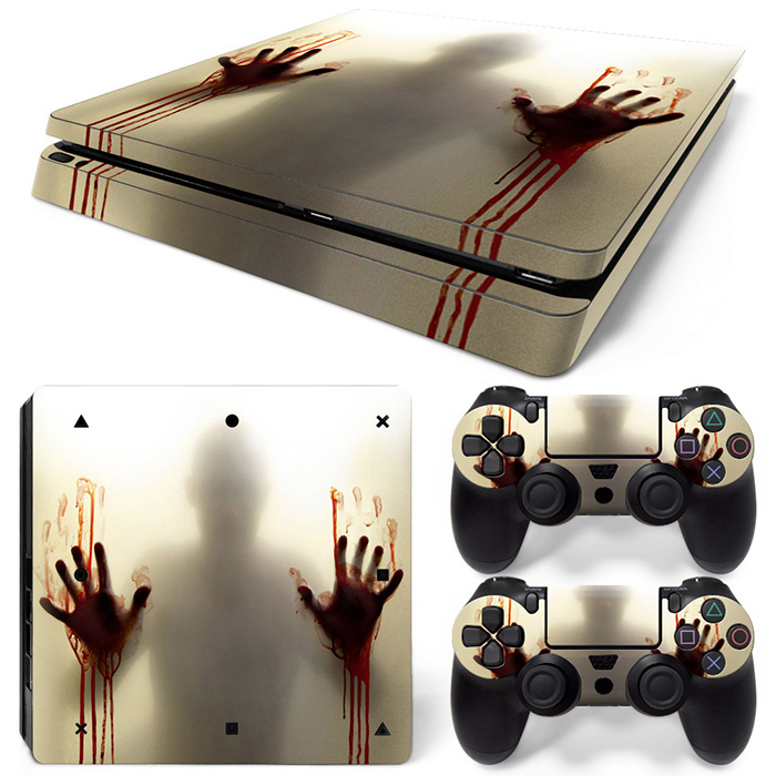 PS4 Slim Skins For Playstaion 4 Slim Console PS 4 Slim Skin Stickers+2Pcs Controller Protective Sticker image