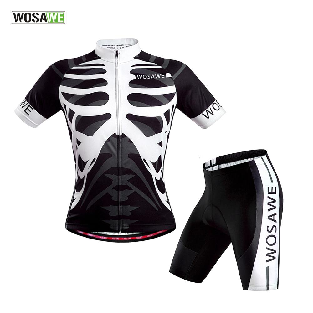 WOSAWE Summer Cycling Jerseys+ short set 3D gel pad Quick Dry maillot ciclismo Cycling Clothing Short Sleeve