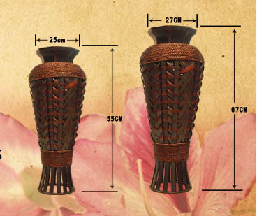 Pastoral Bamboo Floor Flower Vase - Home & Garden