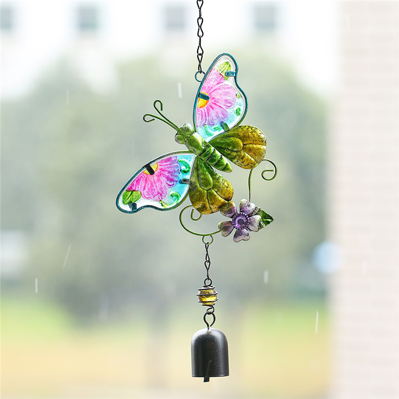 2016 colorful butterfly handmade wind chime suncatcher