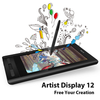 XP Pen Artist 12 Graphic tablet Drawing Tablet Drawing Monitor 1920 X 1080 HD IPS with Shortcut Keys and Touch Pad(+P06)