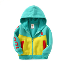 Toddler Boys French Terry Sweater Cotton Infant Hooded Long Sleeves Children Spring Autumn sports Clothes Outerwear Jacket coats все цены