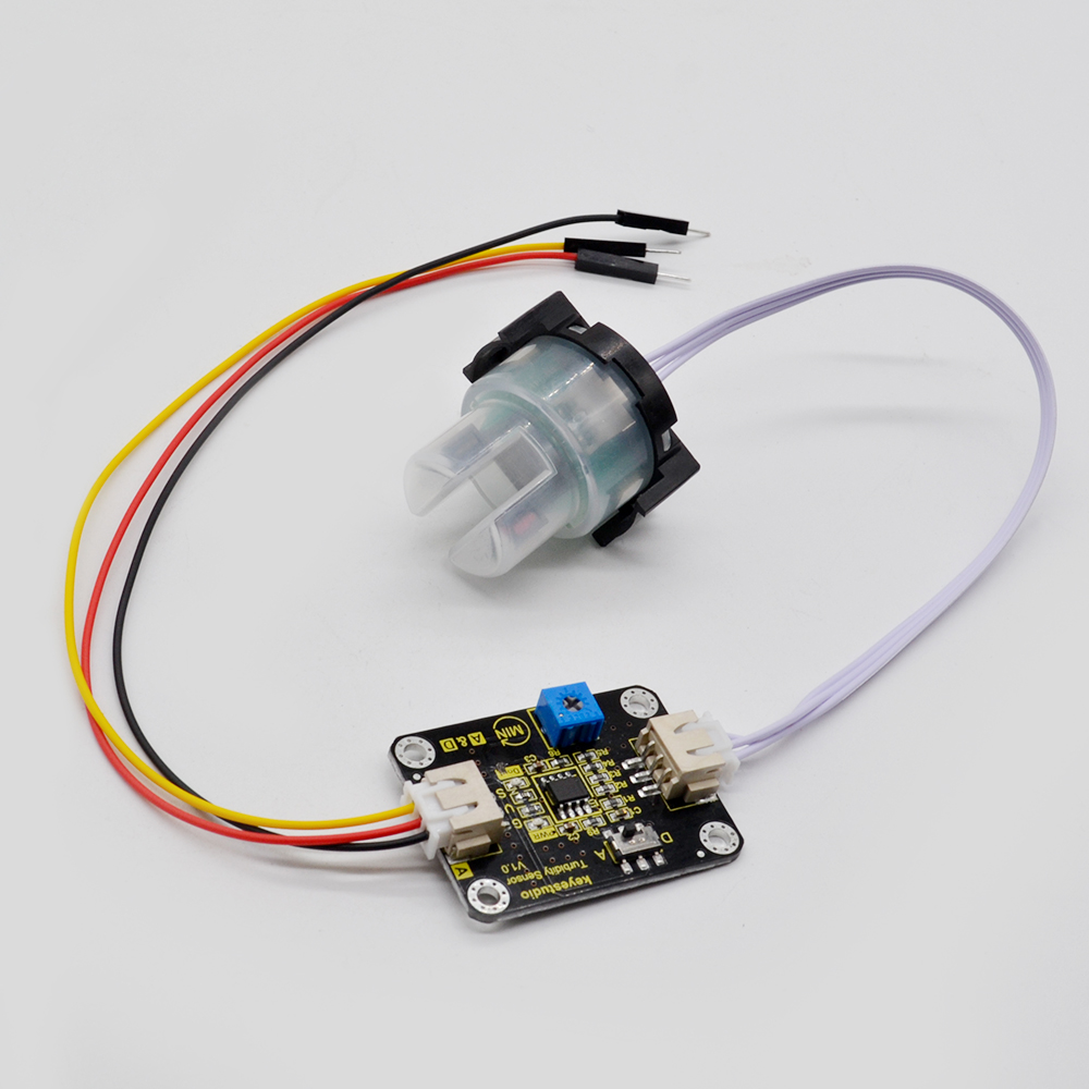 Keyestudio Turbidity Sensor V1.0 With Wires Compatible with Arduino for Water TestingKeyestudio Turbidity Sensor V1.0 With Wires Compatible with Arduino for Water Testing