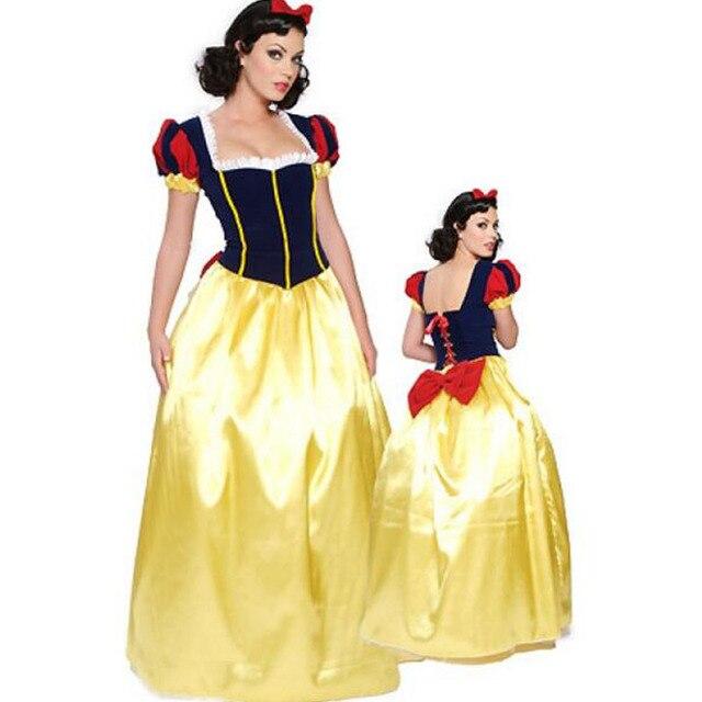 Halloween Sprookjes Kostuum.Us 18 68 11 Off Plus Size 6xl Volwassen Sneeuwwitje Kostuum Carnaval Halloween Kostuums Voor Vrouwen Sprookje Prinses Cosplay Vrouwelijke Lange Jurk