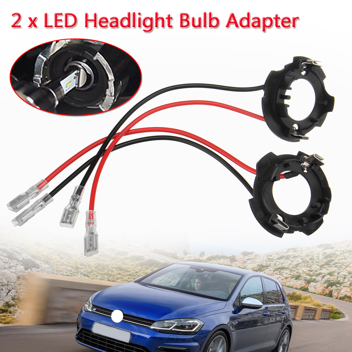 2x H7 LED Headlight Retainer Clip Bulb Base Holder Headlamp Socket Adapter  for Volkswagen for VW Golf 5 MK5 GTI Jetta-in Base from Automobiles &  Motorcycles ...