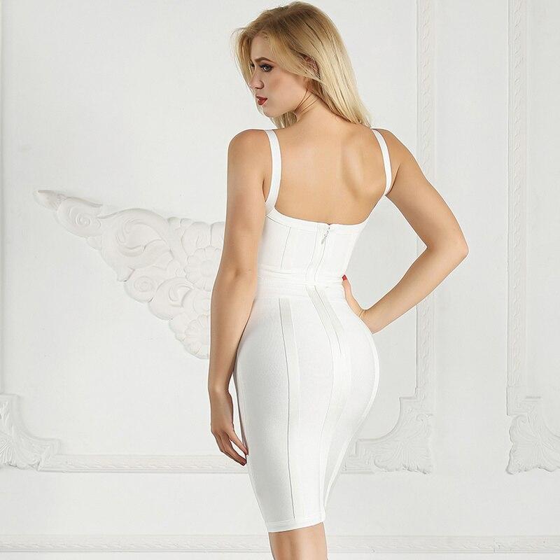 2018 red Robe V En Neck Retour Pink Spaghetti Mode Zipper D'été Sexy Célébrité Femmes Gros Up Robes white Strap Tenues Nouveau Bandage Lace W9YeHbIED2