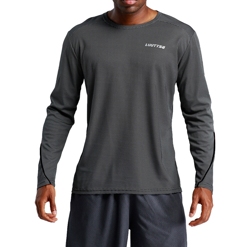 Sport-Shirt Fitness-Training-Jerseys Long-Sleeve Quick-Dry Breathable Gym Fabric Men