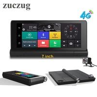 ZUCZUG Dashboard 7'' 4G Car DVR Recorder camera GPS Monitor Smart Android 5.1 Bluetooth Dual Lens 1080P WIFI Dash cam
