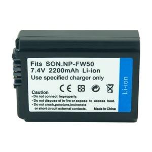 Image 3 - Batería de cámara recargable para Sony Alpha 7R A7R 7S A7S A3000 A5000 A6000 NP FW50 5C A55, 2 uds., 7,4 v, 2.2A, NEX 5N, NP FW50, NPFW50