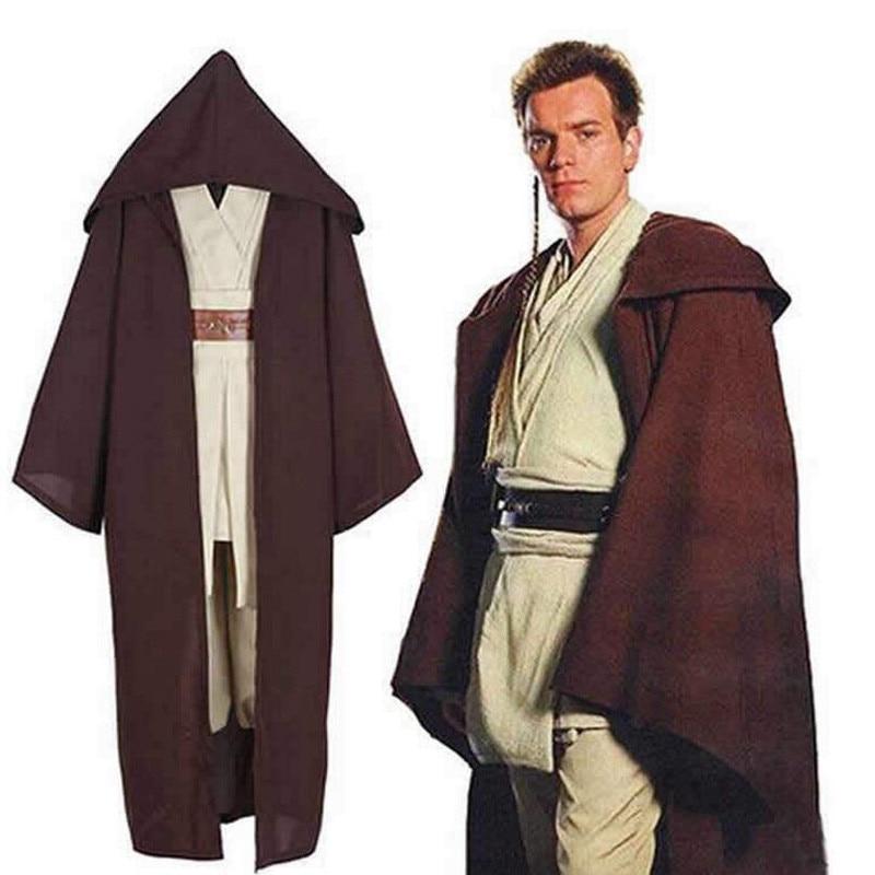 New Star Wars Prequel Jedi Knight Mace Windu Tunica Cosplay Costume Halloween