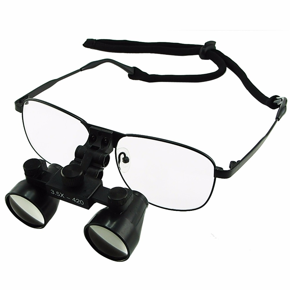 3.5x Galilean Style Dental Loupes Surgical Medical Titanium Frame 420mm Working distance + 55mm Depth of Field Loupe Dentistry jay beagle r surgical essentials of immediate implant dentistry