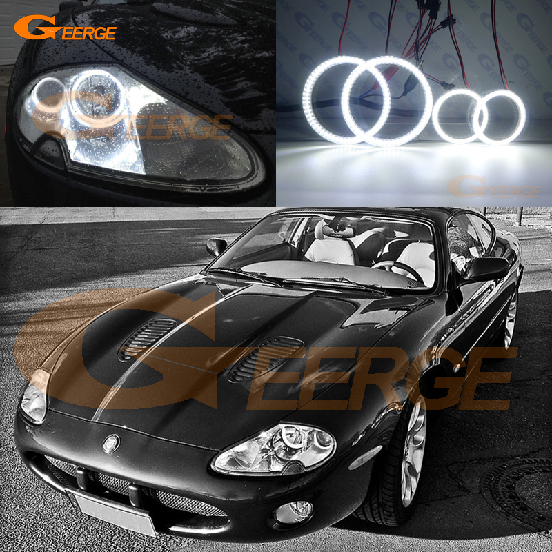 Pour Jaguar XK8 XKR X100 Portfolio 1996-2006 Excellents yeux d'ange Illumination ultra brillante smd led Angel Eyes kit DRL