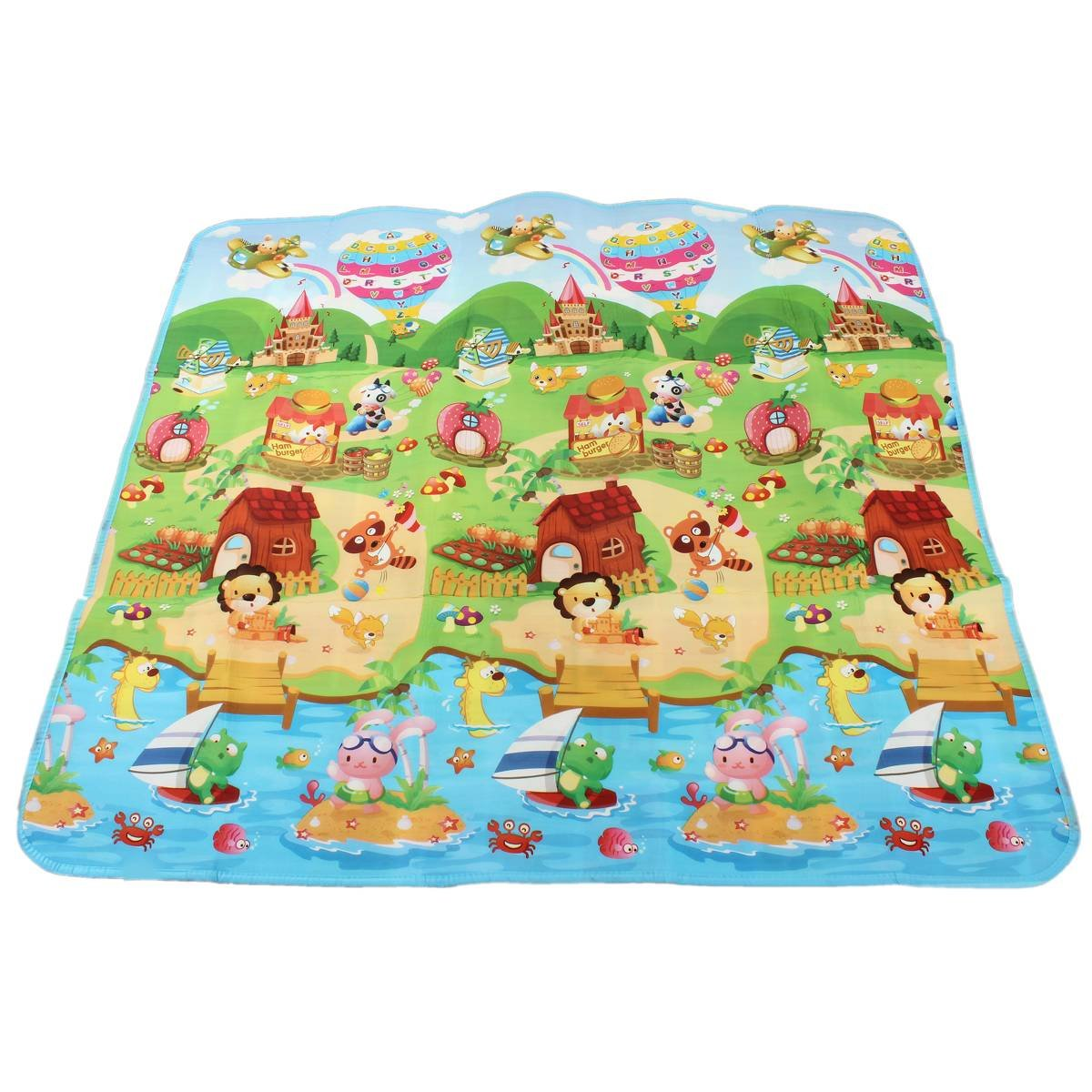 Baby Crawl Mat Kids Play mat Toddler Playing Carpet Picnic Blanket ...