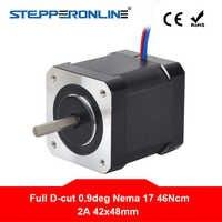 0.9deg Nema 17 Stepper Motor 2A 42x48mm 46Ncm Completa D-cut Albero 4-piombo Nema17 stepper per FAI DA TE 3D Stampante CNC Robot
