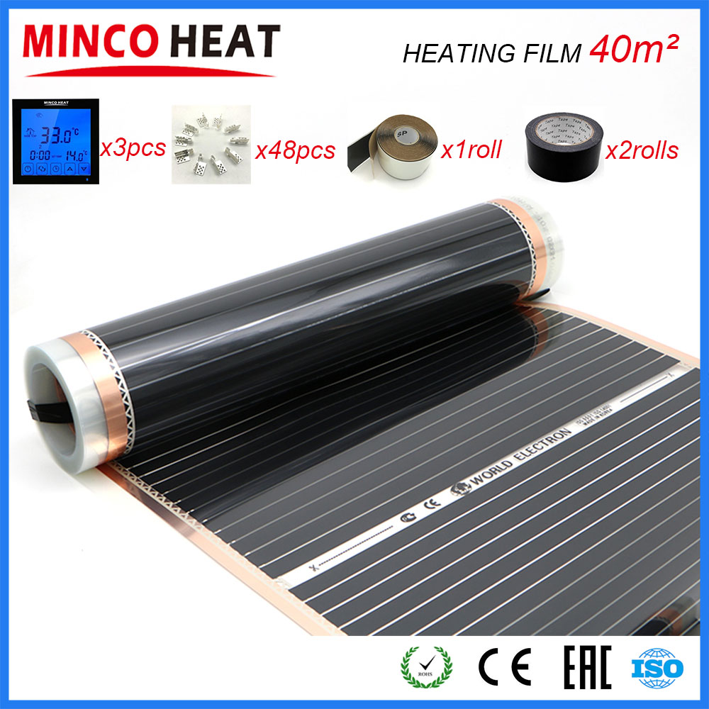 40M2 Electric Warm Floor Heating Film Difference Width Can Choose Room Heater