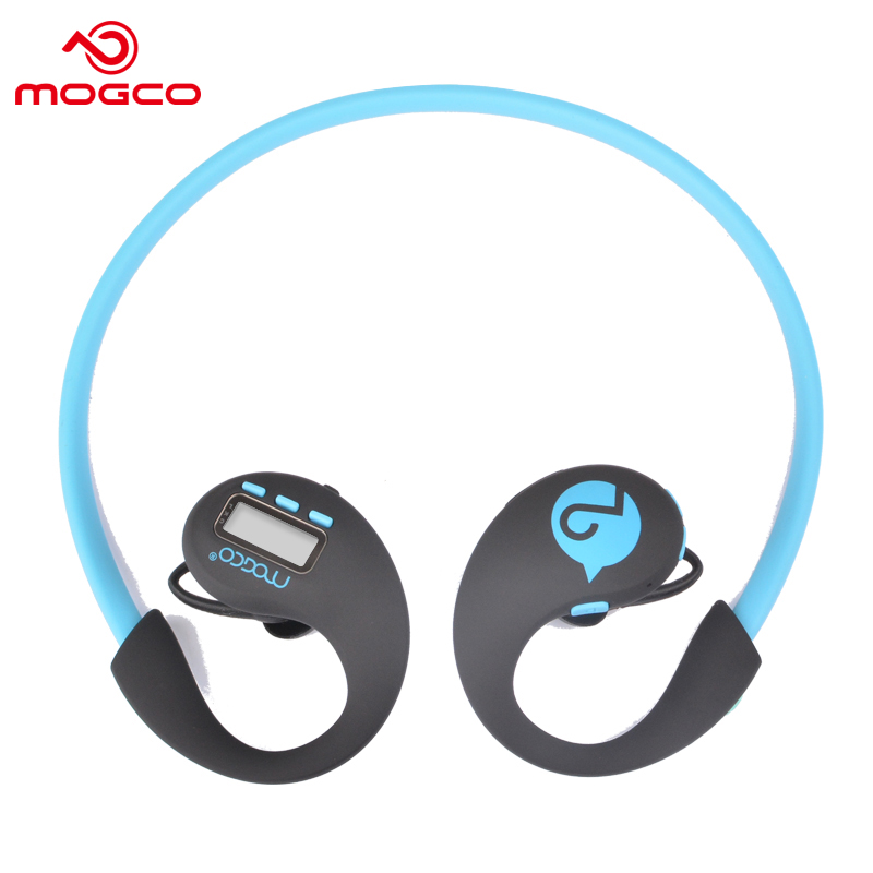 MOGCO Sports Bluetooth 4.1 Wireless Earphone Stereo Bass Headset Step Counter Monitor Earbuds With Mic For iPhone Android Phone