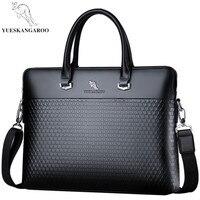 YUESKANGAROO Famous Brand Leather Men Bags Business Briefcase 2018 New Handbag Male Crossbody Shoulder Bags