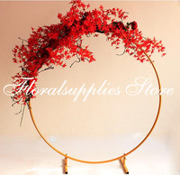 2019 latest wedding centerpieces round flower stand metal flower vase gold rack for table decoration