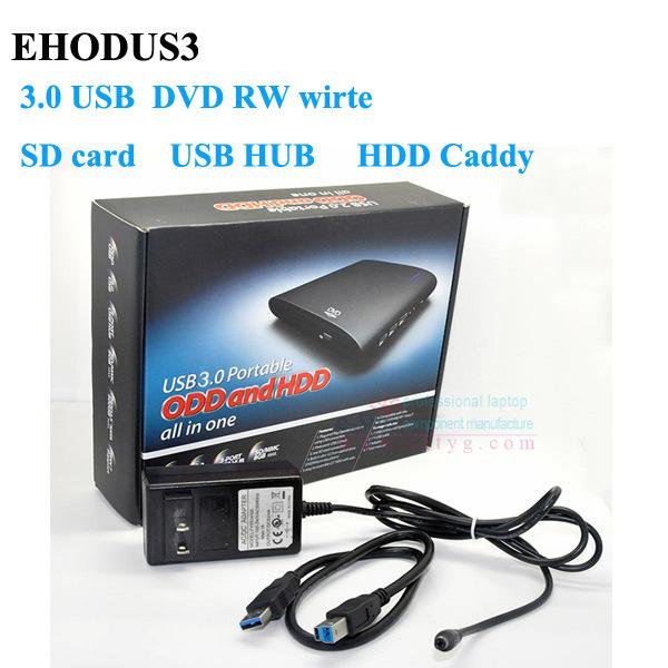 USB 3.0 unidade Óptica DVD RW Burner Portátil Streamline Design Multi Função Media Player EHODUS3