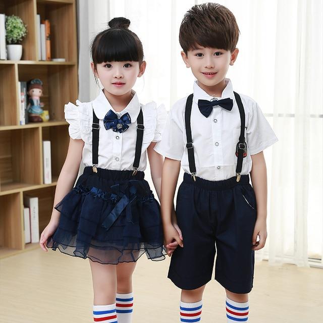Children Korean Japanese Student School Uniforms Set Suit -8986