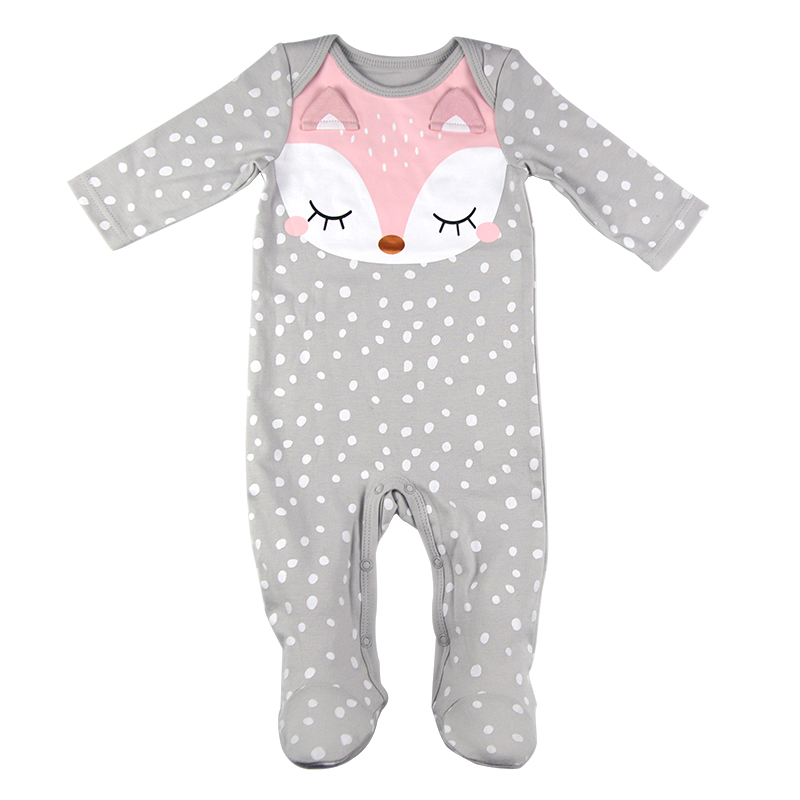 Chinatera Baby Rompers Pajamas Infants Cartoon Bunny Sleepsuit Jumpsuits Cotton
