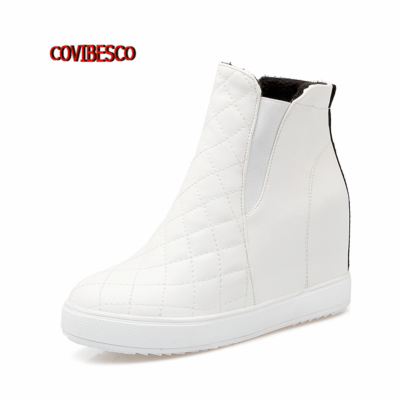 Popular White Wedge Boots-Buy Cheap White Wedge Boots lots from ...