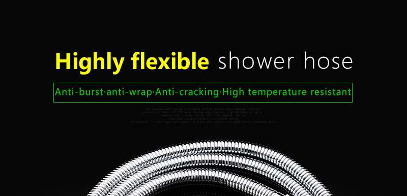 Plumbing Hoses Stainless Steel Shower Hose 1.5m Plumbing Hose Bath Products Bathroom Accessories SUS304 Shower TubingHoses (1)
