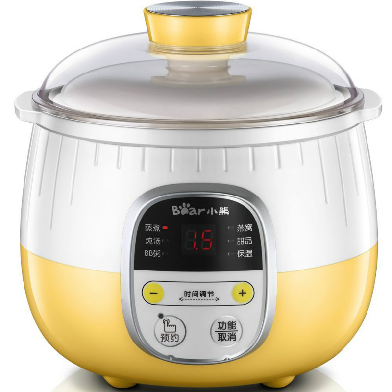Bear 220V Electric Slow Cookers Stew Pot Soup Porridge Cooker bear ddg d10g1 electric slow cooker white porcelain 100w mini fully automatic baby soup pot bird s nest stew pot light yellow