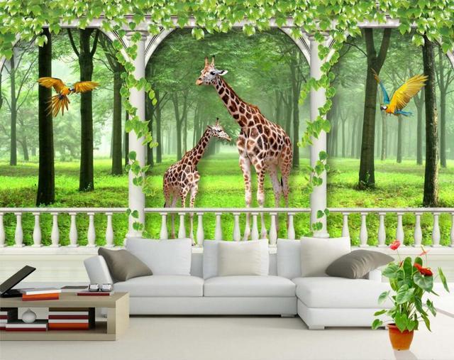 fond d'ecran 3d girafe