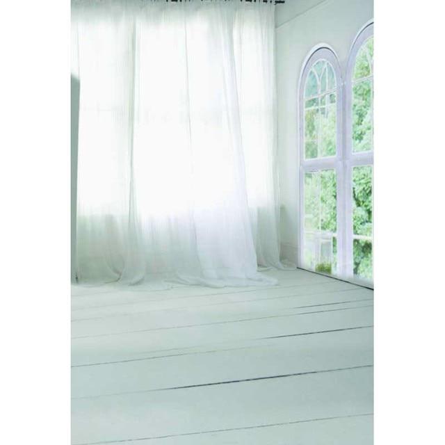 Wedding Vinyl Cloth Window White Curtain Indoor