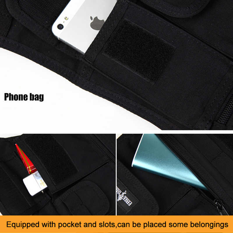ÜCRETSIZ ASKER Açık yürüyüş görünmez yelek çanta MOLLE sistemi tablet çantası IPAD çanta çanta cüzdan CORDUAR malzeme YKK fermuarlı çantalar