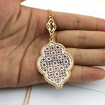 Morocco Brand Designer Inspired Filigree Long Chain Pendant Scott Necklaces for Women Daily Party Accessories Girl Gifts Jewelry 2