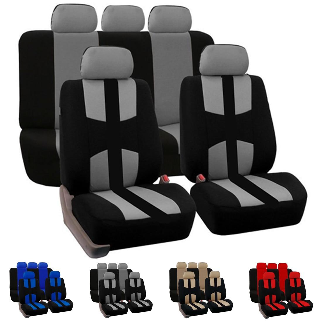 Dewtreetali Four Seasons 4pcs 9pcs Front Rear Car Seat Cover Universal Car Seat Protector font b