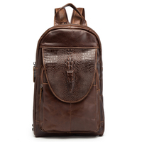 Man Woman Backpack Genuine Leather Crossbody Shoulder Blosa Alligator Fashion Male Feminina Mochila Fashion Business Travel Gift