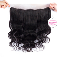 Annmode Hair Products Brazilian Body Wave Lace Frontal Closure Free Shipping Free Part 13 4 Non