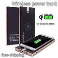 Горячая Wireless Power Bank 8000 мАч 2USB Интерфейс СВЕТОДИОДНЫЕ Фонари Портативный Мобильный Powerbank Зарядное Внешняя Батарея Бесплатная Доставка