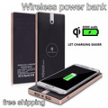 Hot Wireless Power Bank 8000mAh 2USB Interface LED Lights Portable Mobile Powerbank Charger External Battery Pack Free Shipping