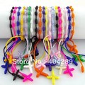 50pcs Mix color Religious bracelet hand rope Hand Made Knotted Rosary Bracelets Pulseras Decenarios