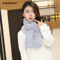New Arrival Winter Women Warm Scarves High Quality Soft Faux Fur Neck Warmer Fashion All-match Thickened Solid Scarf