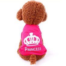 Pet Dog Clothes Puppy Vest Spring summer T-shirt Pet Shirt Cute dog vest princess pajamas pet Cat Clothes costume for small dog(China)