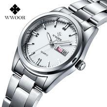 Caliente de La Manera Marca Relogio Feminino Fecha Día Reloj Femenino Reloj de Moda Casual Reloj de Cuarzo de Acero Inoxidable Relojes de Las Mujeres